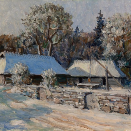 Winter Landscape With an Old Farm