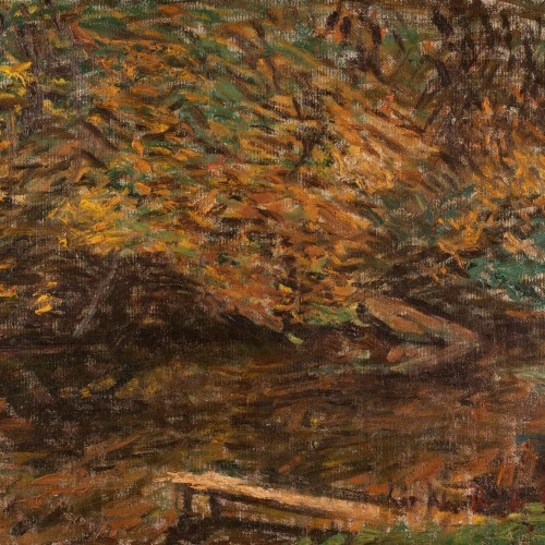 Autumnal Landscape With a River
